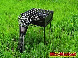 Розкладний мангал - валізу на 6 шампурів + комплект шампурів