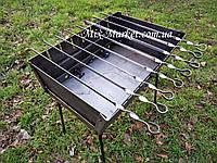 Раскладной мангал чемодан на 8 шампуров + комплект шампуров, фото 1