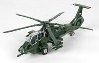 Модель - вертолет военный