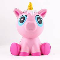 Мягкая игрушка KINGSUNT UNICORN Медленно растущая игрушка антистресс Единорог, 14 см, Розовая (SUN0333)