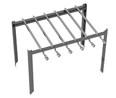 Подставка-мангал для шампуров и решетки для барбекю