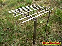 Мангал подставка на 8 шампуров из нержавеющей стали + 8 шампуров, фото 1