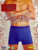 Трусы мужские боксёры хлопок + бамбук VeeNice размер L-3XL (46-54) синие