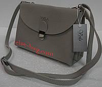 Женская сумка кросс-боди на два отдела серая, фото 1