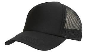 Кепка тракер с сеткой черная Headwear proffesional - 00601