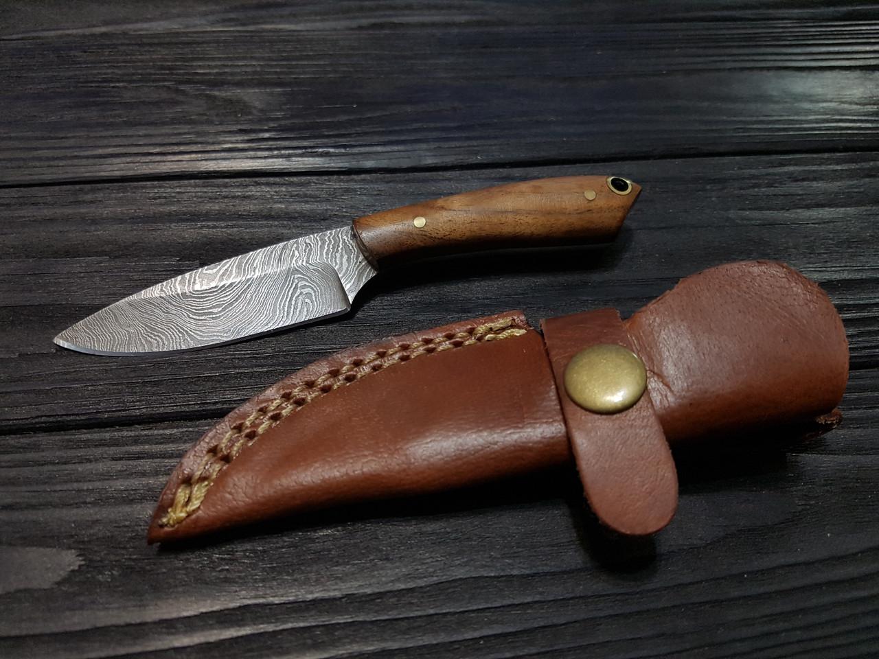Нож охотничий компактный дамаск s- 34