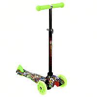 Самокат  MINI  Best Scooter 3 колеса свет 50кг Зеленый (А 24701 /779-1292), фото 1