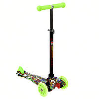 Самокат  MINI  Best Scooter 3 колеса свет 50кг Зеленый (А 24701 /779-1292)
