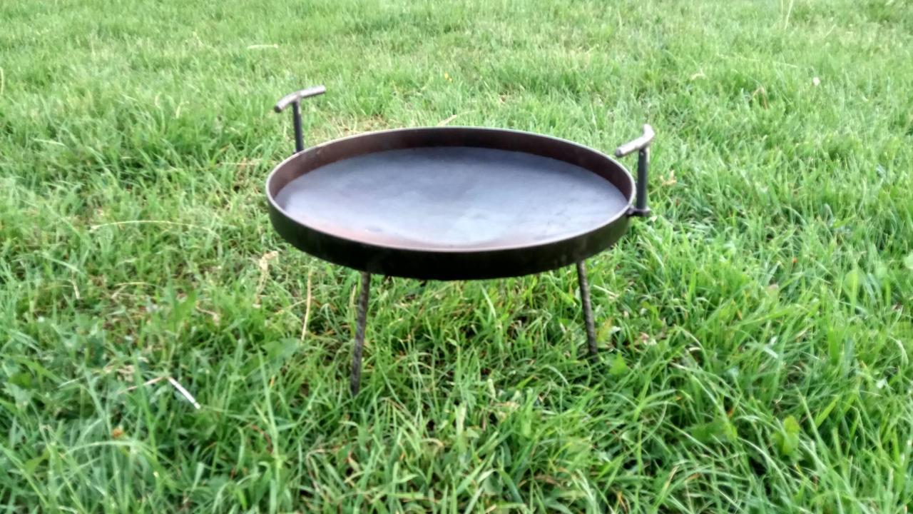 Сковорода из диска бороны 50 см с ручками
