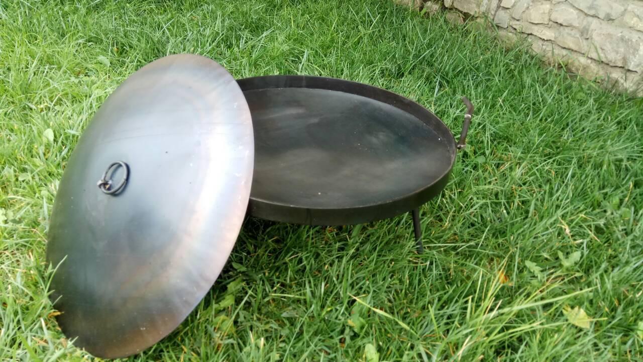 Сковорода из диска бороны 40 см с крышкой