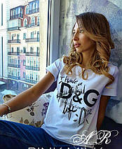 Женская футболка с надписьюI have a beautiful life 42-46 р, фото 2