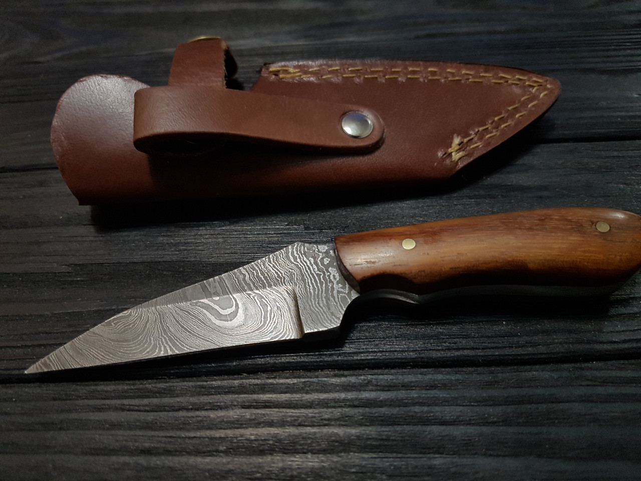 Нож охотничий компактный дамаск s- 36