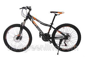 """Велосипед 24"""" Remmy LOСRI 13"""" AM DD черно-оранжевый (м) AL"""