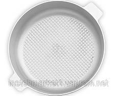 Сковорода-жаровня алюминиевая с рифленым дном БИОЛ А301 (300х119 мм) крышка, две ручки, фото 3