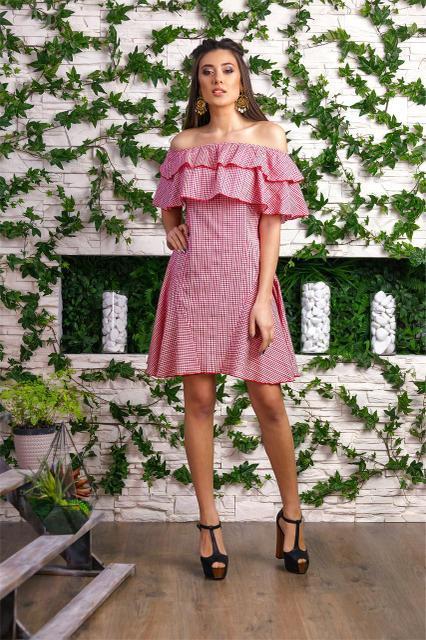 Женское летнее платье с открытыми плечами 885090 - СТИЛЬНАЯ ДЕВУШКА  интернет магазин модной женской одежды в 98a02806dab