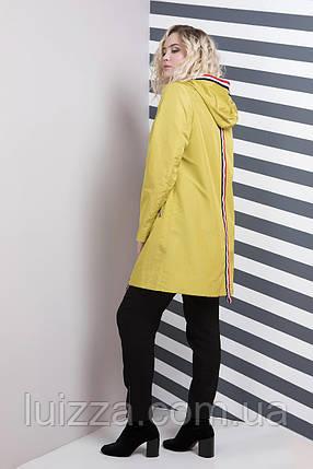 Женская удлиненная ветровка - плащ с двумя молниями 52,64,66 рр  , фото 2