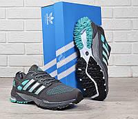 Кроссовки мужские Adidas Style Marathon tr 21 текстильные серые с зеленым