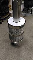 Банная труба 100 см с сеткой для камней д. 120 мм (сталь 321 1 мм), фото 1