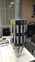 Сетка с ребрами для камней с трубой 100 см для банной печи д. 120 мм, фото 1