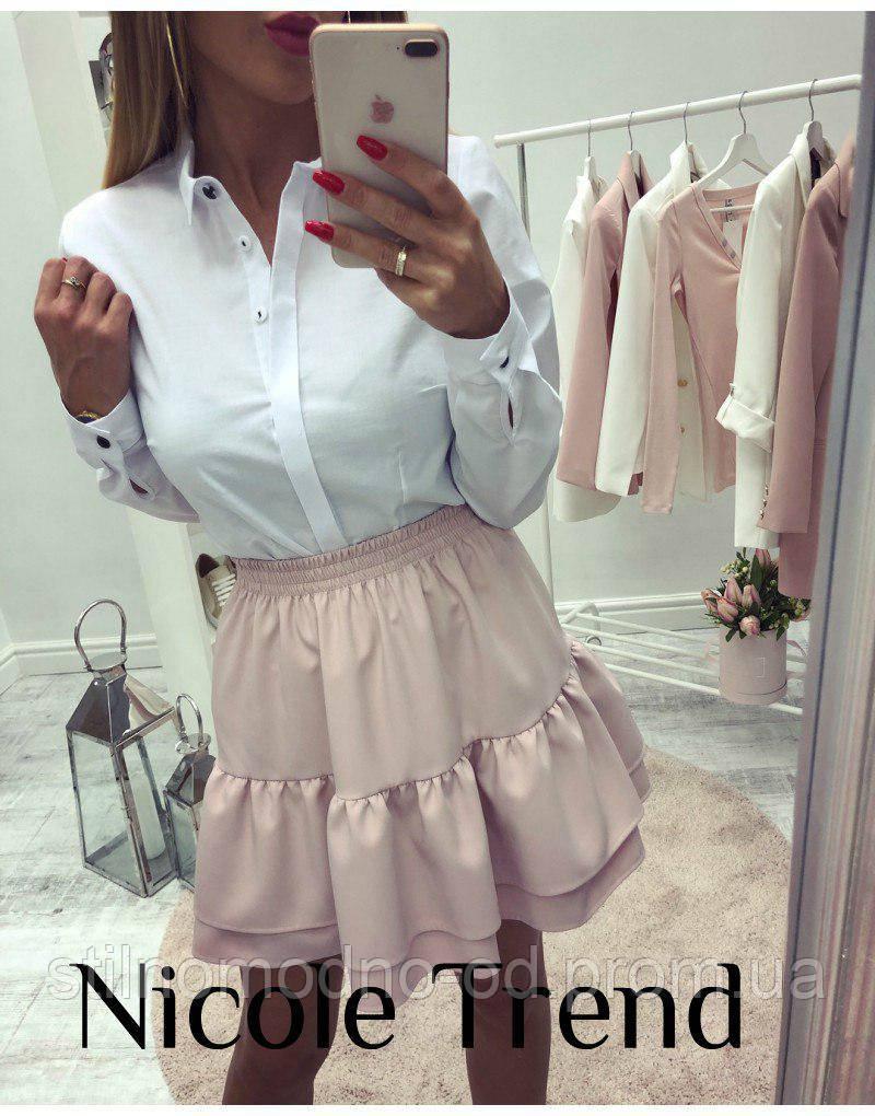 Стильная юбка на резинке