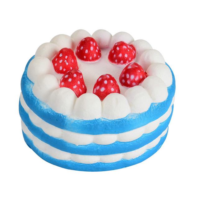 Мягкая игрушка SUNROZ Cake Медленно растущая игрушка антистресс Торт, 11 см, Синяя (SUN0334)