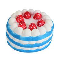 Мягкая игрушка SUNROZ Cake Медленно растущая игрушка антистресс Торт, 11 см, Синяя (SUN0334), фото 1