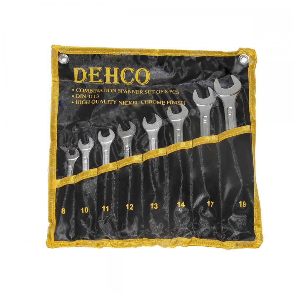Набор ключей комбинированных 8 единиц 8-19 мм (сумка) DEHCO