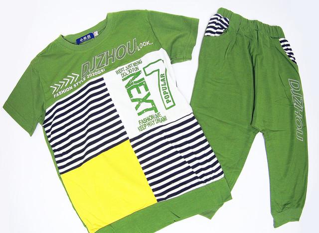 Детский летний костюм для мальчиков 4-8 лет-1