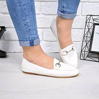 Туфли лоферы Lorri белые