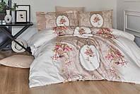 Комплект постельного белья First Choice Сатин Люкс Poema Vizon, фото 1