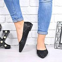 Туфли балетки женские Sandy черные