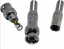 Разъем BNC-M - с пружиной под кабель и винтом для фиксации центральной жилы, OEM Q100
