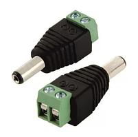 Разъем для подключения питания DC-M (D 5,5x2,1мм) с клеммами под кабель (Yellow Plug)