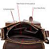 Кожаная сумка через плечо WESTAL, фото 6
