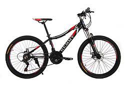 "Велосипед 24"" Remmy LOСRI 13"" AM DD черно-красный (м) AL"