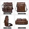 Кожаная сумка через плечо WESTAL, фото 2
