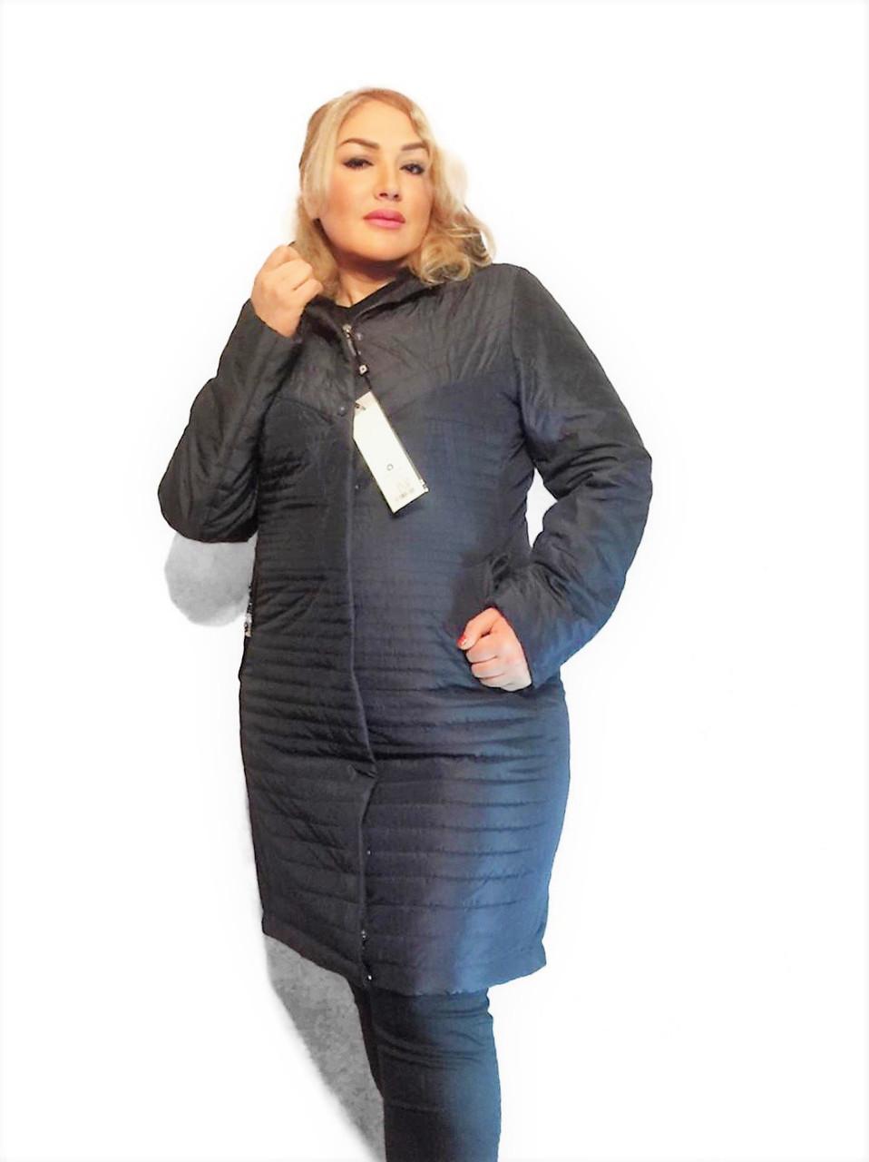 Демисезонная удлиненная куртка  QARLEVAR  Размеры 50-52