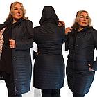 Демисезонная удлиненная куртка  QARLEVAR  Размеры 50-52, фото 5