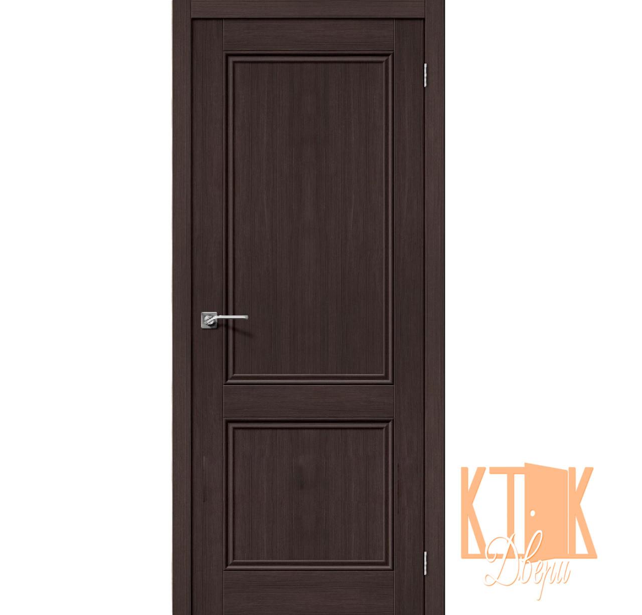 """Межкомнатная дверь ПГ """"Порта 62"""" со стеклом White Crystal серии """"Porta Veralinga"""" (венге)"""
