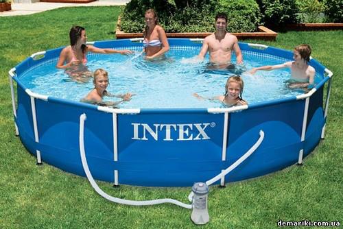Сборный каркасный бассейн Intex  Metal Frame Pool (366х76 см) с фильтрующим насосом