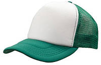 Кепка тракер с сеткой зеленая/белая Headwear proffesional - 00603