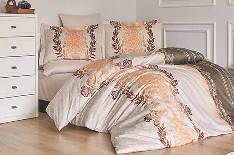 Комплект постельного белья First Choice Сатин Люкс Farah Vizon, фото 2