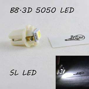 LED лампа в подсветку приборной панели, цоколь B8.3D SL LED, фото 2