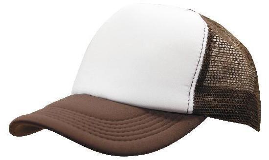 Кепка тракер с сеткой коричневая/белая Headwear proffesional - 00605