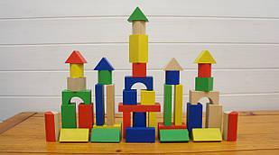 """ЭКО-игрушка """"Конструктор деревянный 50 деталей"""" арт. 001 коробка 17х15х15 см"""