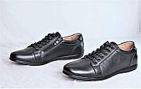 Мужские туфли мокасины черные натуральная кожа популярные легкие и удобные (Код: 1127а), фото 1