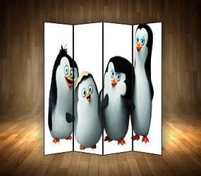 """Ширма декоративна"""" Пінгвіни з Мадагаскара"""""""