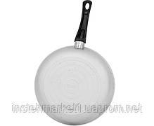 Сковорода БИОЛ А223 (діаметр 220 мм), алюмінієва з рівним дном, бакелітова ручка і з кришкою, фото 2