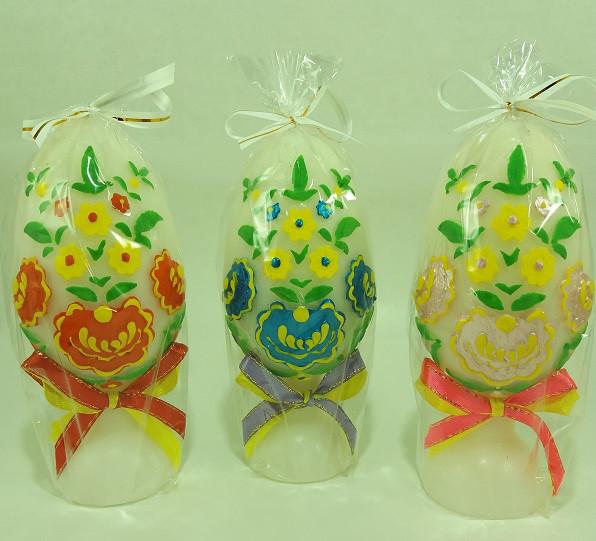 Свечи Пасхальные Яйцо с Орнаментом 12.5 x 5.0 x 5.0 см