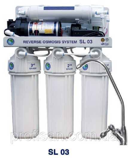 Система обратного осмоса BIO+systems RO-50-SL03-NEW (мембрана Filmtec пр-во США) c насосом